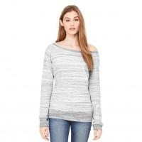 Bella + Canvas Women's Sponge Fleece Wide-Neck Sweatshirt (BC37501)