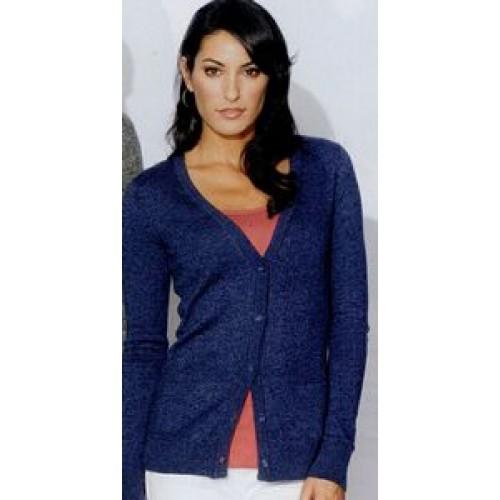 c27eb98abf District Made Ladies Cardigan Sweater (DM415)